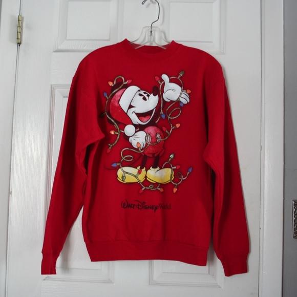 disney mickey mouse christmas sweatshirt size